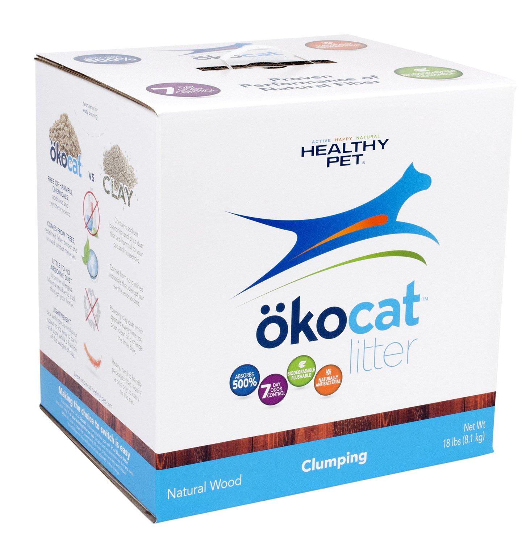 Okocat Natural Wood Cat Litter Clumping Large