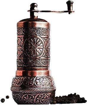 Turkish Handmade Copper Coffee Salt Pepper Spice Grinder Mill 22 cm 8.5 in