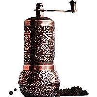 "Bazaar Anatolia Pepper Grinder, Spice Grinder, Pepper Mill, Turkish Grinder (4.2"" Antique Copper)"