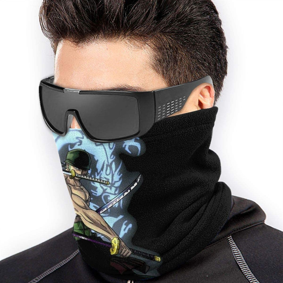 Zoro Neck Gaiter Face Scarf Face Mask Cooling Lightweight Breathable Sun Protection for Fishing Hiking Running Cycling Black