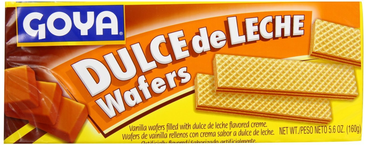 Amazon.com: Goya Dulce de Leche (Creme) Wafer Cookie, 5.6-Ounce (Pack of 2) 5.6 oz