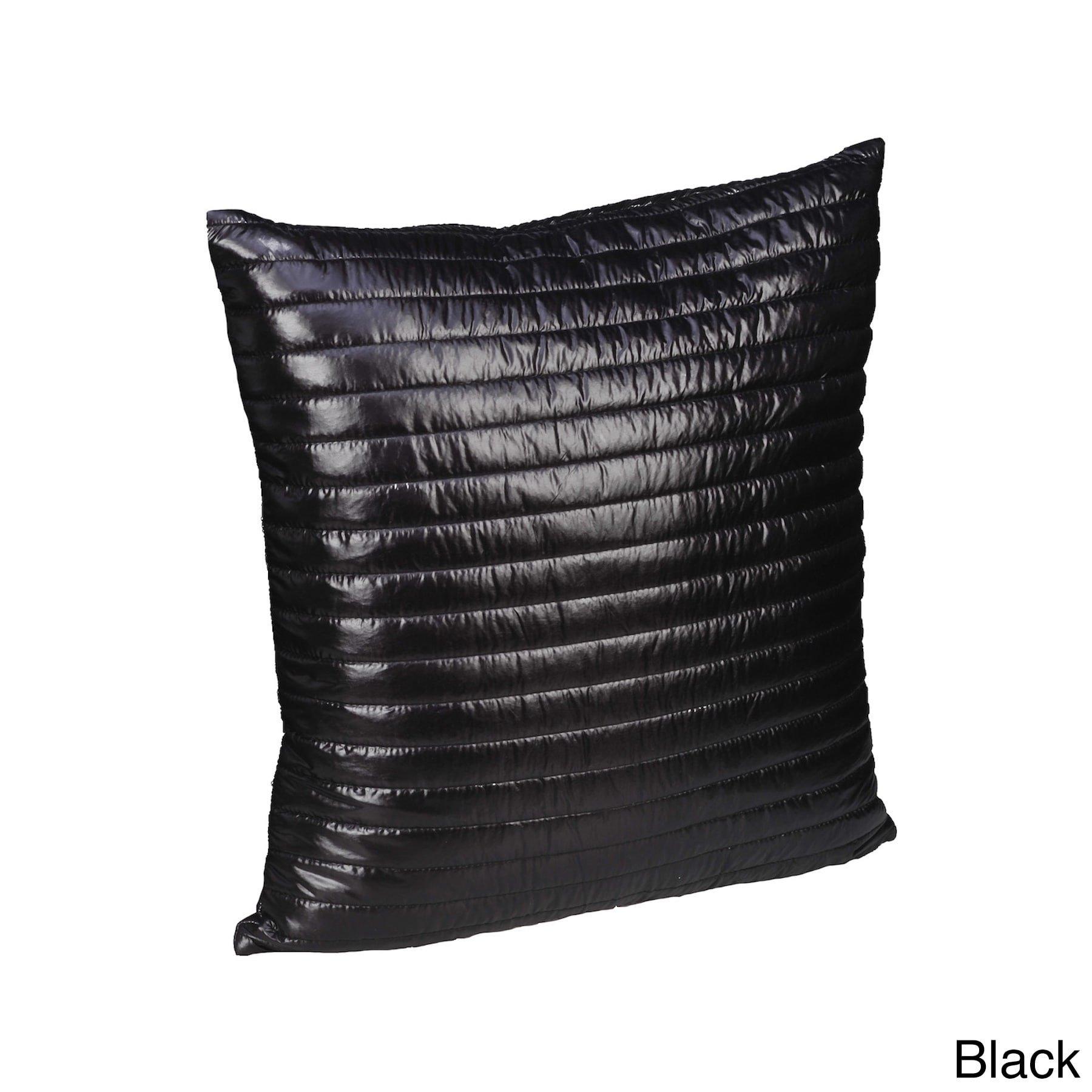 Epoch Hometex, Inc Quilted Lightweight Nylon Decorative Pillow Black
