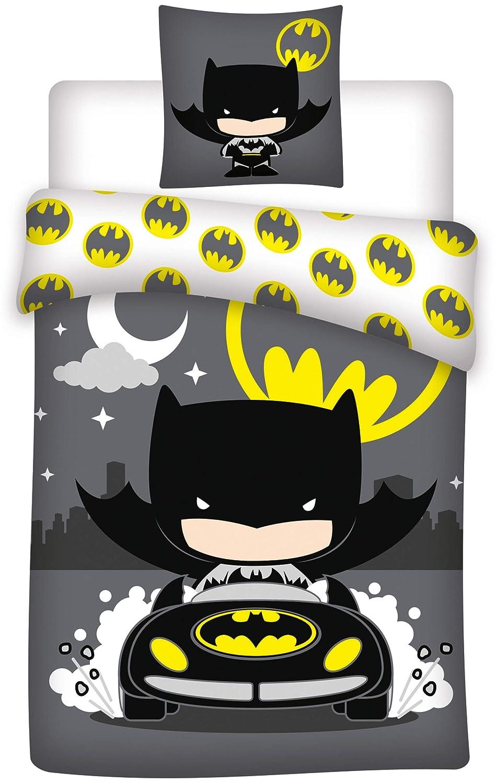 Batman Pilote Parure de lit Housse de Couette lit 1 Place Coton