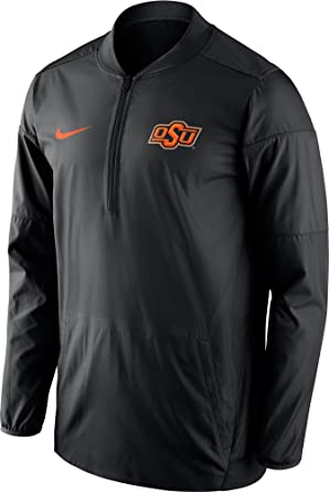 Image Unavailable. Image not available for. Color  Nike Oklahoma State  Cowboys Sideline Lockdown Half-Zip ... 6603d0906