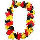 3er Pack Deutschland Hawaiiketten Blumenkette de luxe Hawaii Kette Blume Halskette Germany Weltmeister WM EM