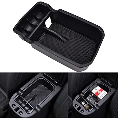 YOCTM Car Center Console Tray Armrest Secondary Glove Storage Box Center Console Organize for 2020 2020 2020 Jeep Compass Limited Latitude Trailhawk Sport Accessories (Pack of 1): Automotive