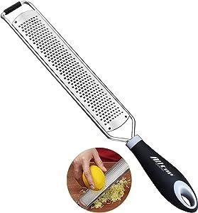 Lemon Zester, Hand-held Stainless Steel Cheese Grater for Kitchen - Fine Shredder