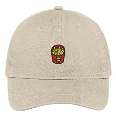 57a8c2de5f2 French Fries Embroidered Low Profile Adjustable Cap Dad Hat - Beige ...