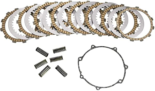 Outlaw Racing ORcs087 Kevlar Complete Clutch Repair Rebuild Kit Includes Springs Steel /& Fiber Plates Yamaha YZf R R6 9 Plate 2008-2011