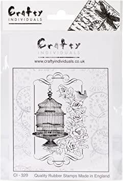Floral Birdcage Crafty Individuals CI-320 Unmounted Rubber Stamp