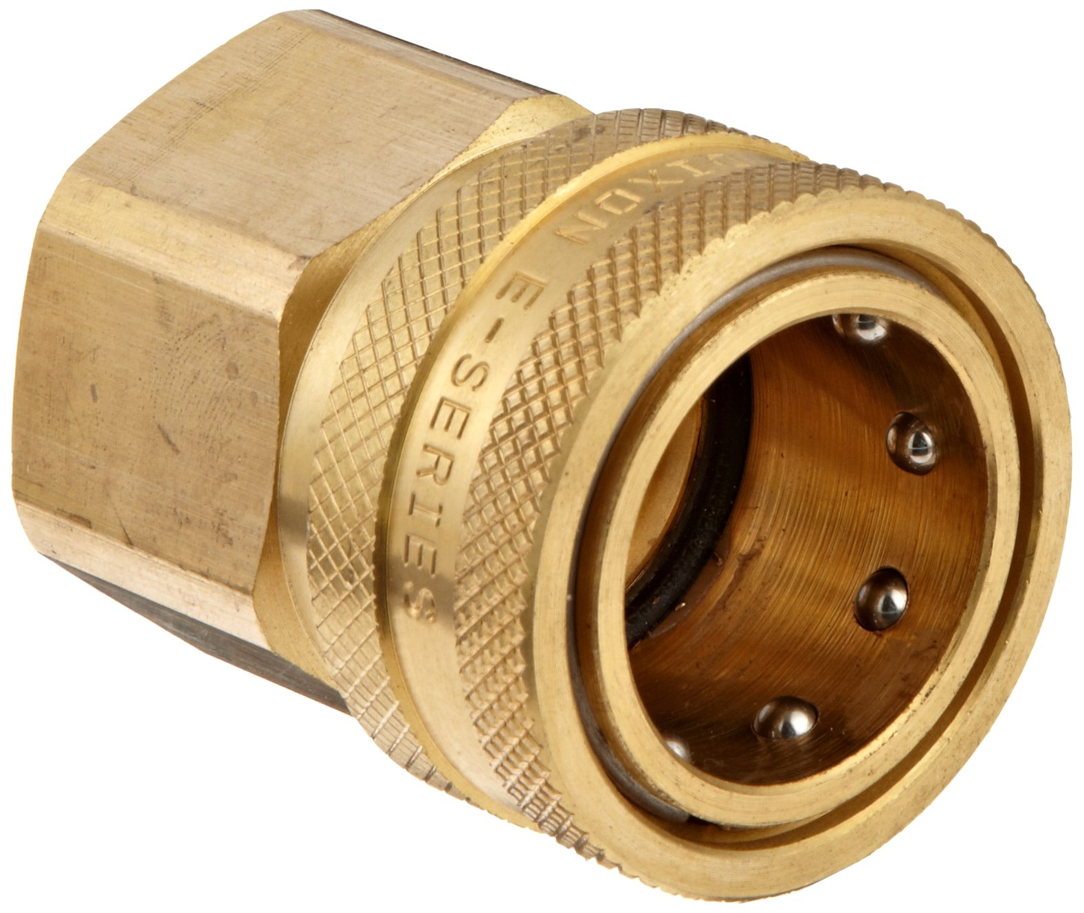 Dixon STFC8 Brass Hydraulic Quick-Connect Fitting, 1'' Female Coupling x 1''-11-1/2 NPTF Female