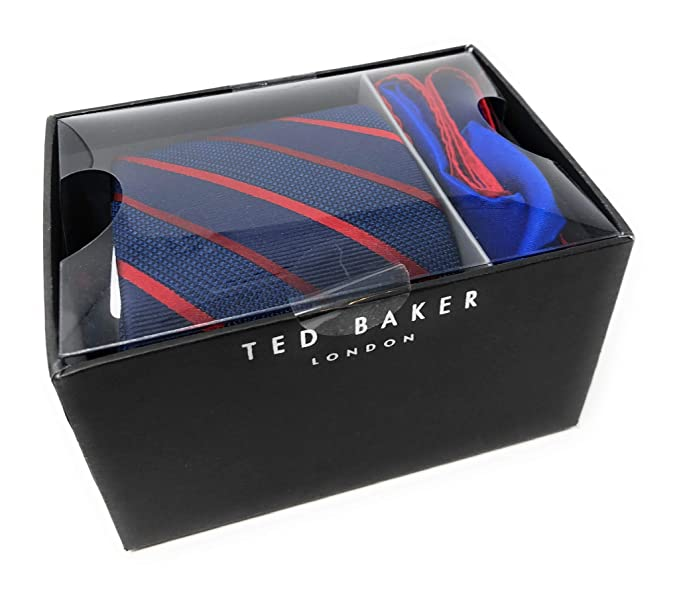 e5010b935 Ted Baker London 100% Silk Men s Neck Tie and Pocket Square Gift Set ...