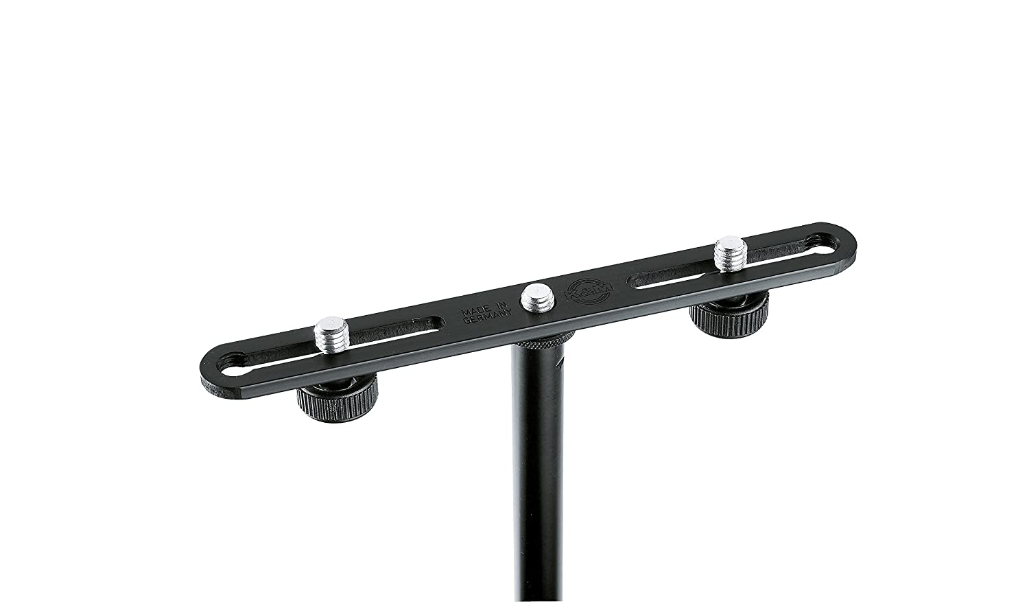 K&M Stands 23550-BLACK Microphone Bar for 2 Microphones Connolly Music Company 23550.500.55