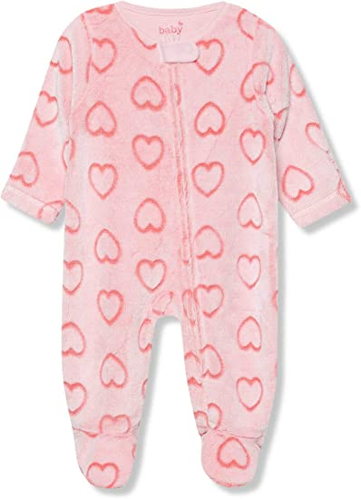 M/&Co Baby Truck Sleepsuits Three Pack with Long Sleeves
