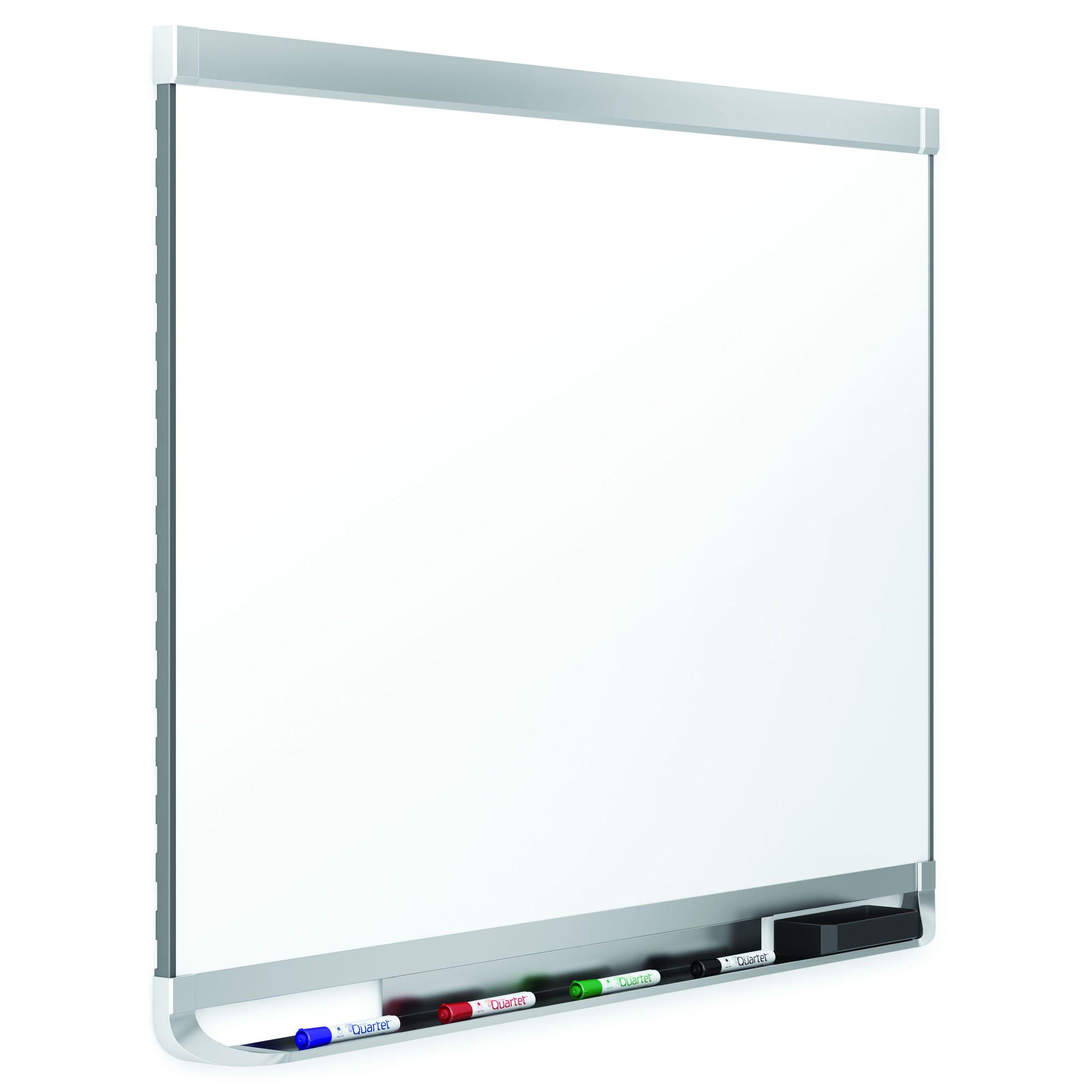 Quartet Prestige 2 DuraMax Porcelain Magnetic Whiteboard, 4 x 3 Feet, Aluminum Frame (P554AP2)