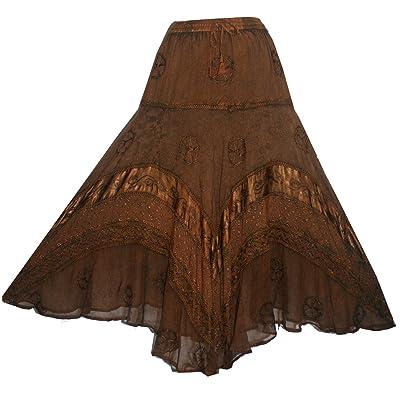 704 SK Dancing Full Embroidered Twirl Long Renaissance Skirt