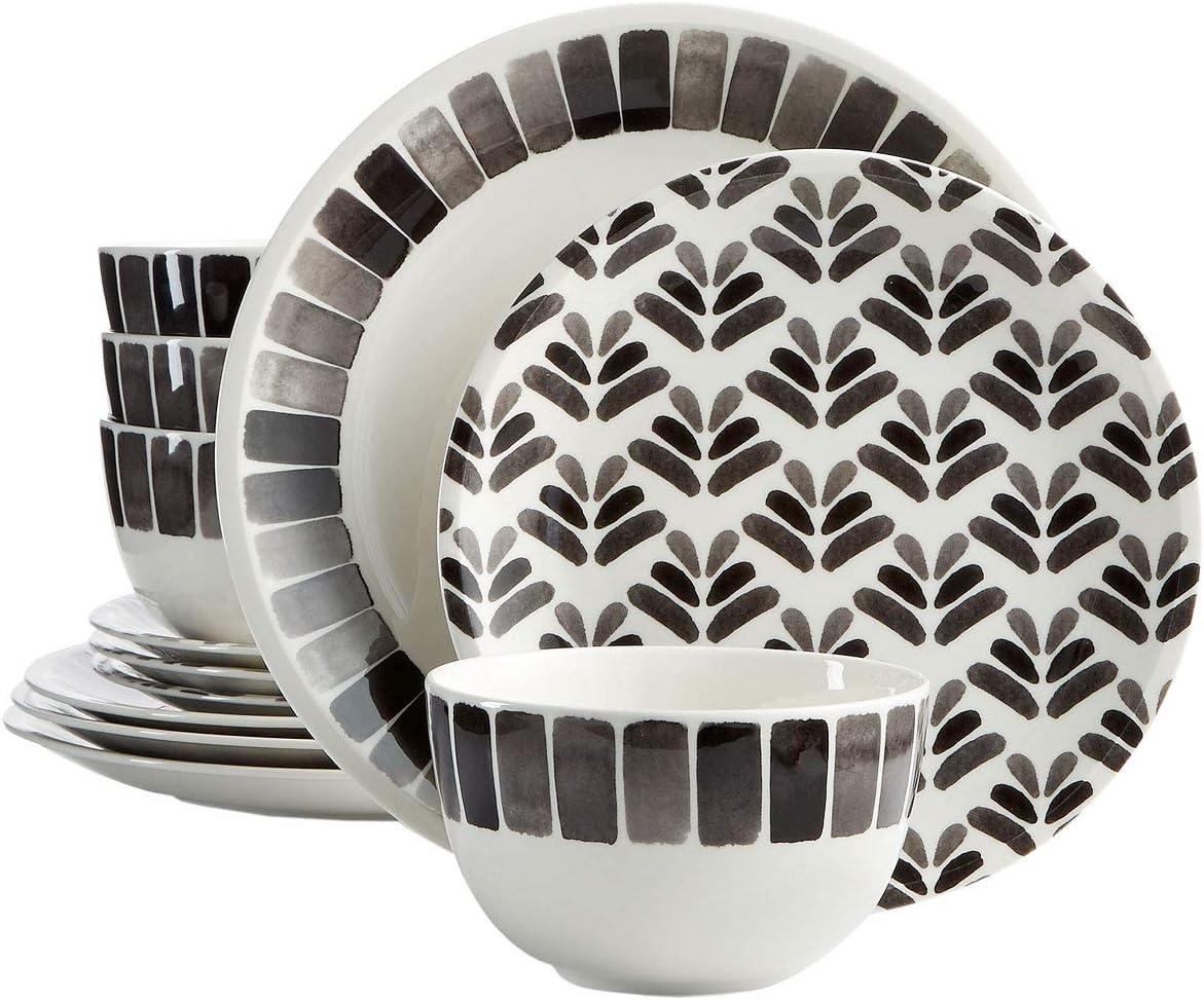 Martha Stewart Collection Heirloom 12-Pc. Black Dinnerware Set