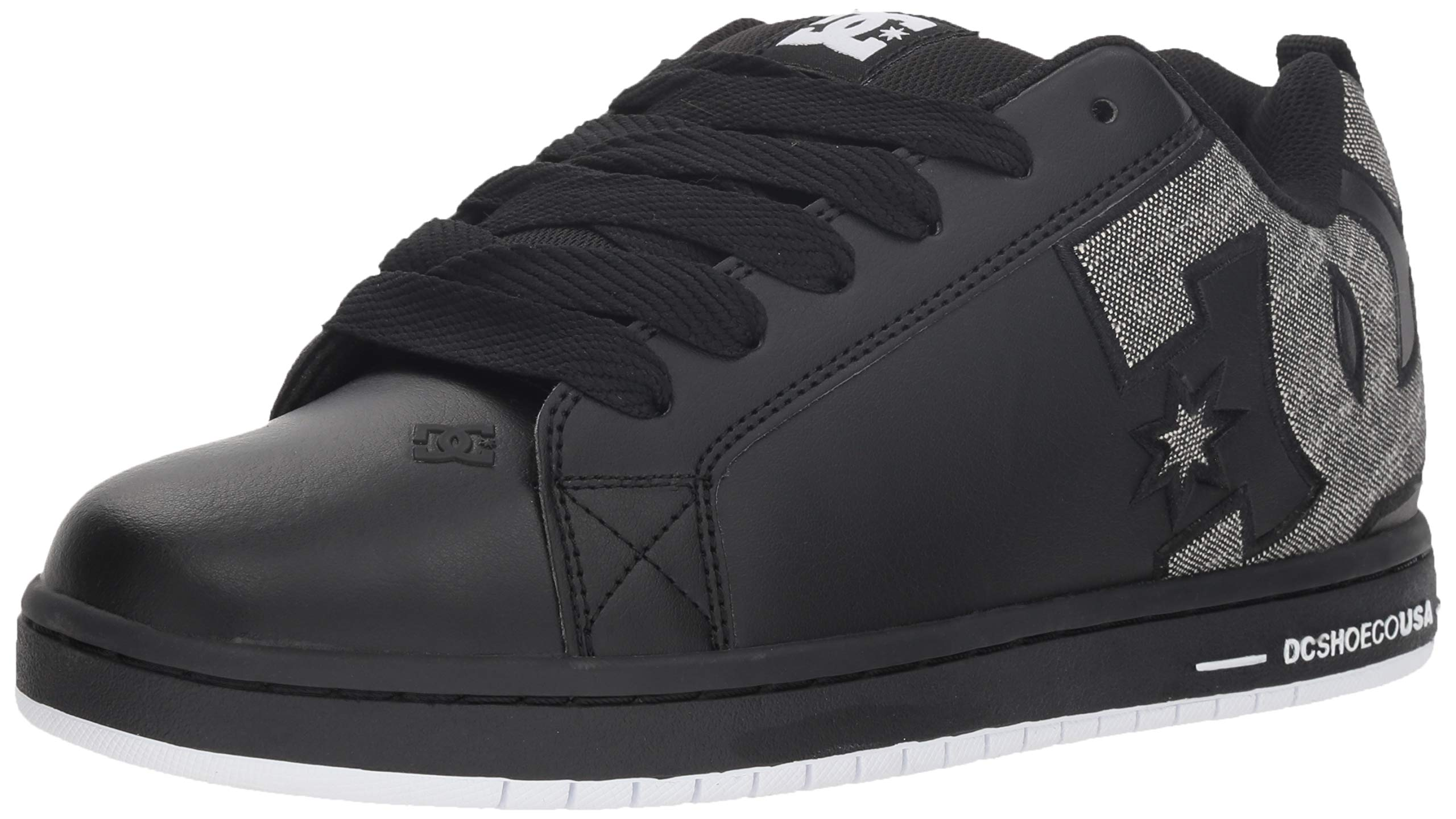 DC Men's Court Graffik Se Skate Shoe, Black/Grey, 9.5 D M US