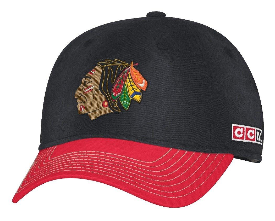 Amazon.com   adidas Chicago Blackhawks CCM NHL Classic Sun Bleached Slouch  Adjustable Hat   Sports   Outdoors 2c179a2ec42d