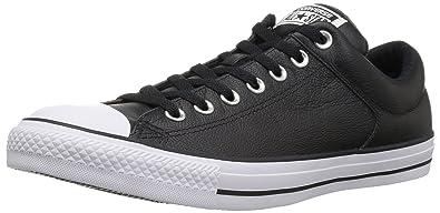 Converse Men s Street Leather Low Top Sneaker Black White 983babd3d90c