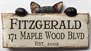 product image for Piazza Pisano Cat Personalized Home Address Sign