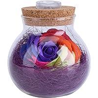 Silaite Flores Frescas preservadas, Botella Ligera de Rose