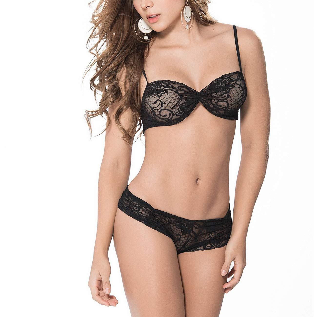 flora lace bra panty set
