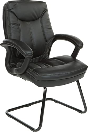 Office Star Bonded Leather Seat and Back Visitor's Chair