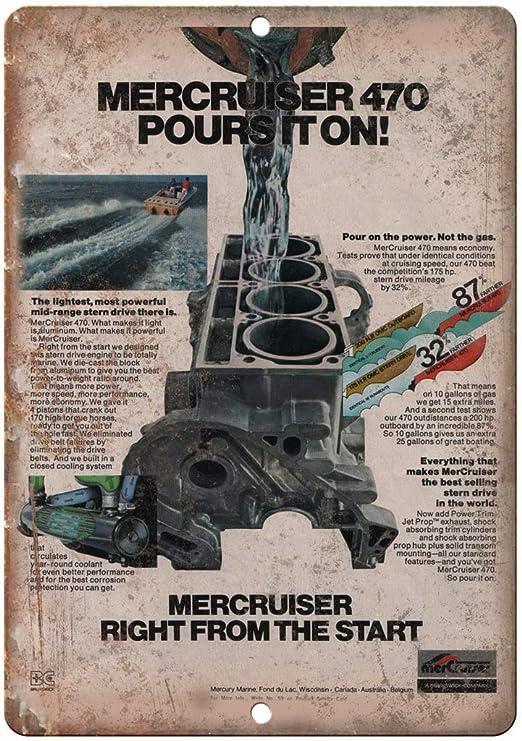 Hunnry Mercruiser Poursiton Outboard Motor Póster De Pared ...