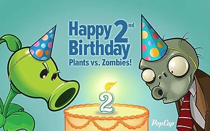 Amazon Plants Vs Zombies Pvsz Edible Cake Topper Frosting 1 4