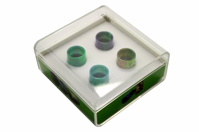 Fancyli Resin Drip Tips Set for SMOK TFV8, Cleito, TFV8 Baby, Pico 25, 810, Comp Lyfe RDA (For TFV8)