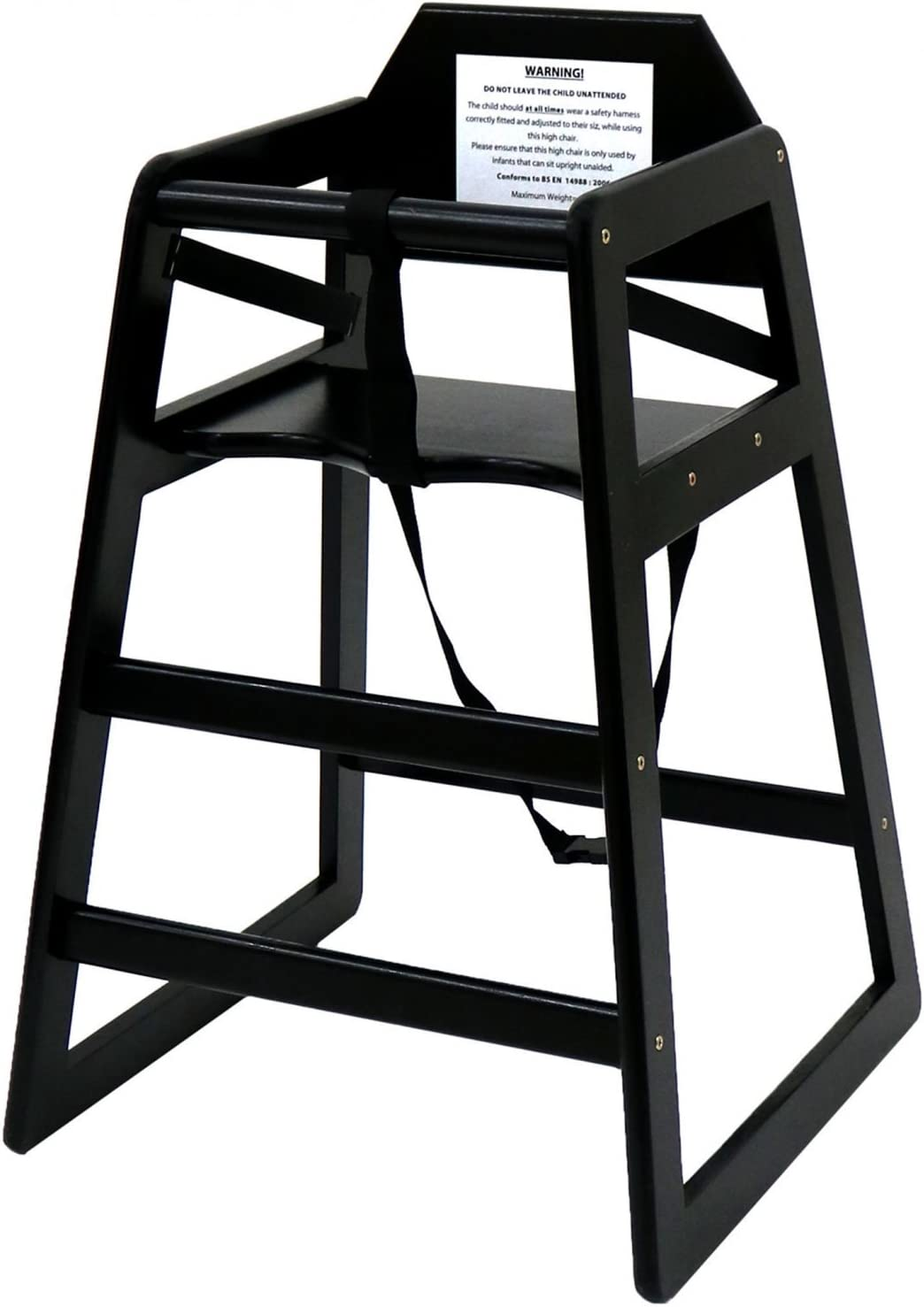 Oypla Stackable Kids Baby Wooden Feeding Commercial Home High Chair Black