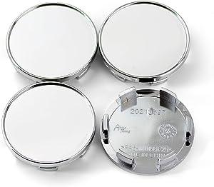 4pcs 54mm(2.13in)/49mm(1.93in) Wheel Hub Center Caps Silver Base for Versa 2007-2017 M35 1997-2013#73646 73646 Wheel Rims