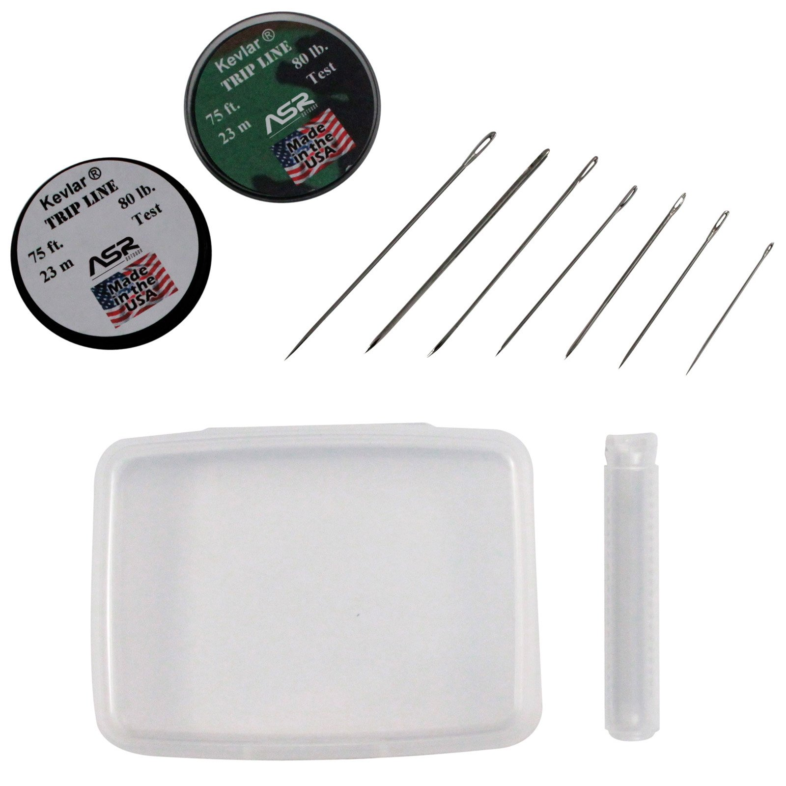 ASR Outdoor 10pc Survival Sewing Kit Rapid Deployment Kevlar Steel Needles