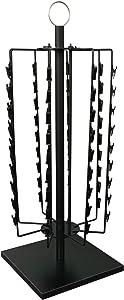 FixtureDisplays 72-Clipper Wire Clip Strip Rack, Countertop Potato Chips Display Rack, Black 15966-NF No