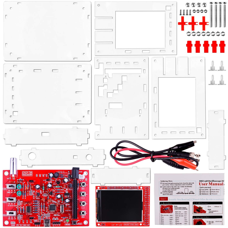 Kit Osciloscopio Digital DSO138 + Sonda/Codigo Abierta 2.4 inch TFT 1Msps Kit de Aprendizaje QUIMAT: Amazon.es: Industria, empresas y ciencia