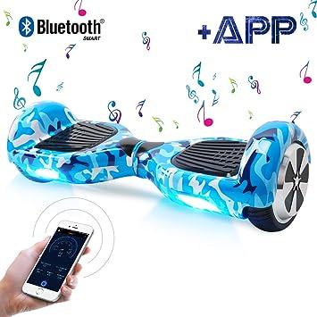 Windgoo Hoverboard 6.5 Pulgadas, Self Balancing Scooter Patinete Eléctrico Scooter con Bluetooth, Motor 250W * 2 con Bluetooth CE Certificado