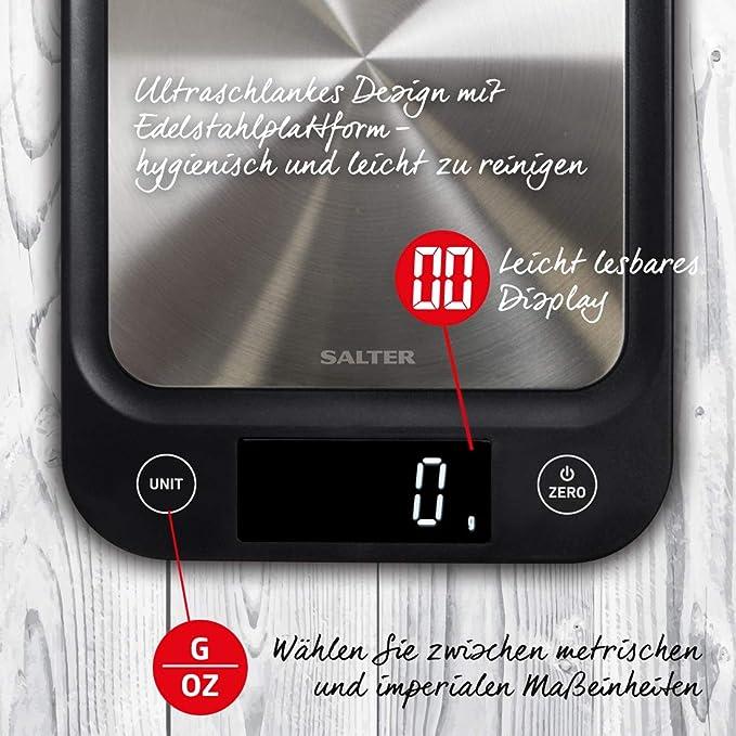 Salter Digitale Kuchenwaage Edelstahl Elektronische Waage Fur