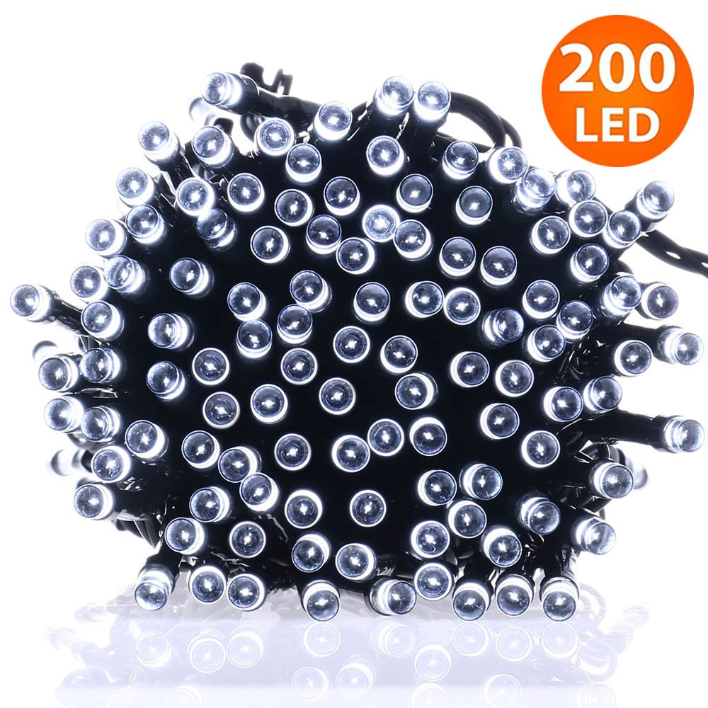 Waterproof Solar String Lights 72ft 200 LED Fairy Lights for Outdoor Garden Landscape Lawn Patio Wedding Party Xmas Tree Home Decoration Mindtech MTK-14