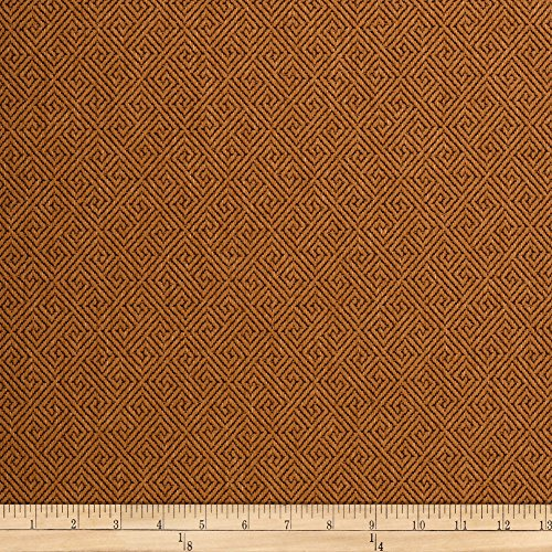 ARTISTRY Templeton Greek Key Brandy Fabric by The Yard