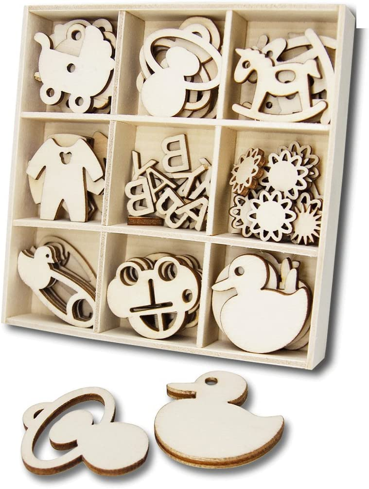 Wooden Hearts Laser Cut Birch Blank Embellishments Craft Decorations Shapes