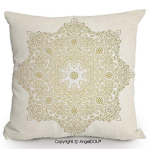 AngelDOU - Almohada Cuadrada de Lino y algodón, Pizarra ...