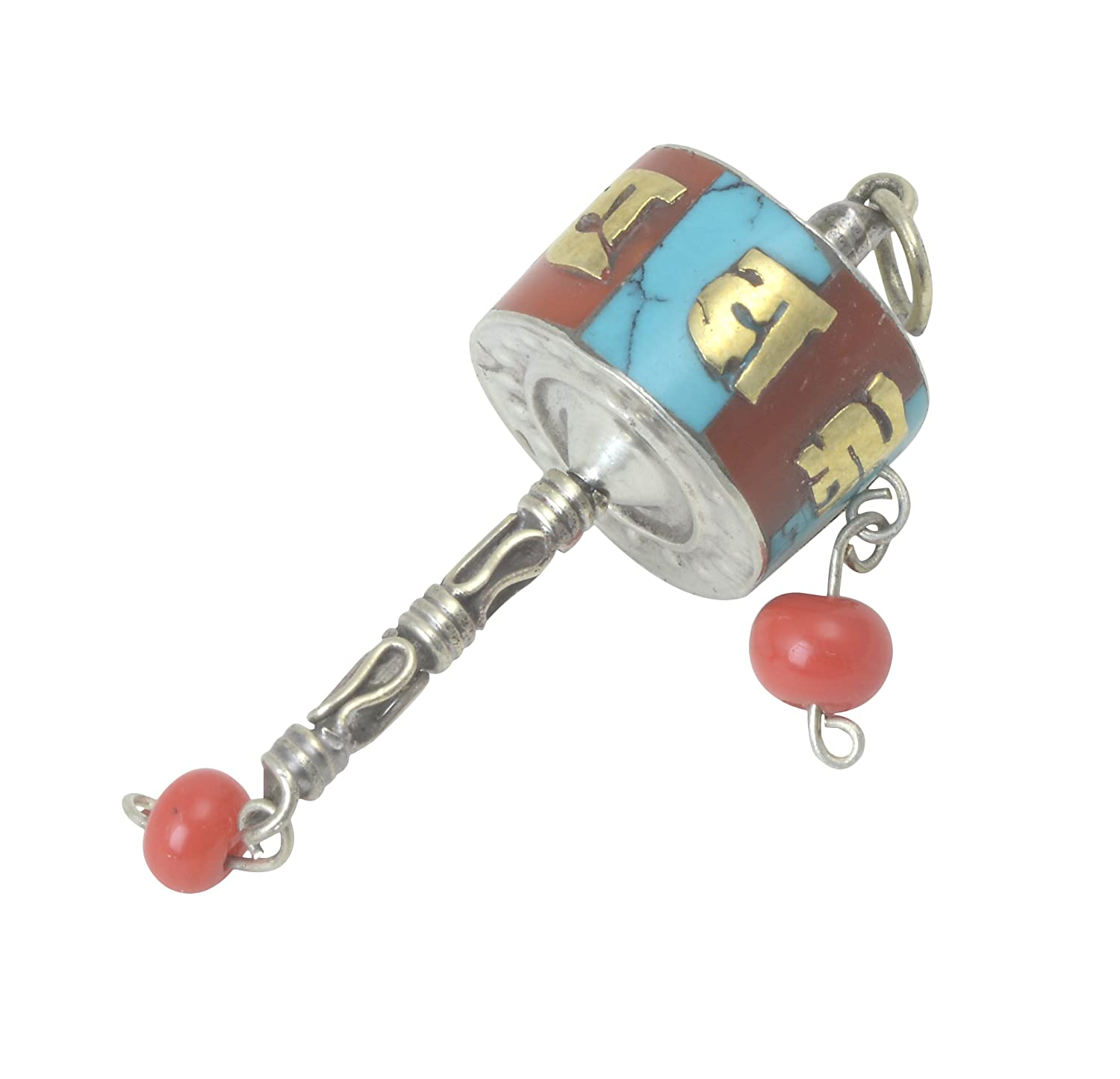 Amazon.com: Collectible Om Mani Padme Hum Tibetan Carving Prayer wheel Pendant handicrafts product by Bharat HaatBH06525: Kitchen & Dining