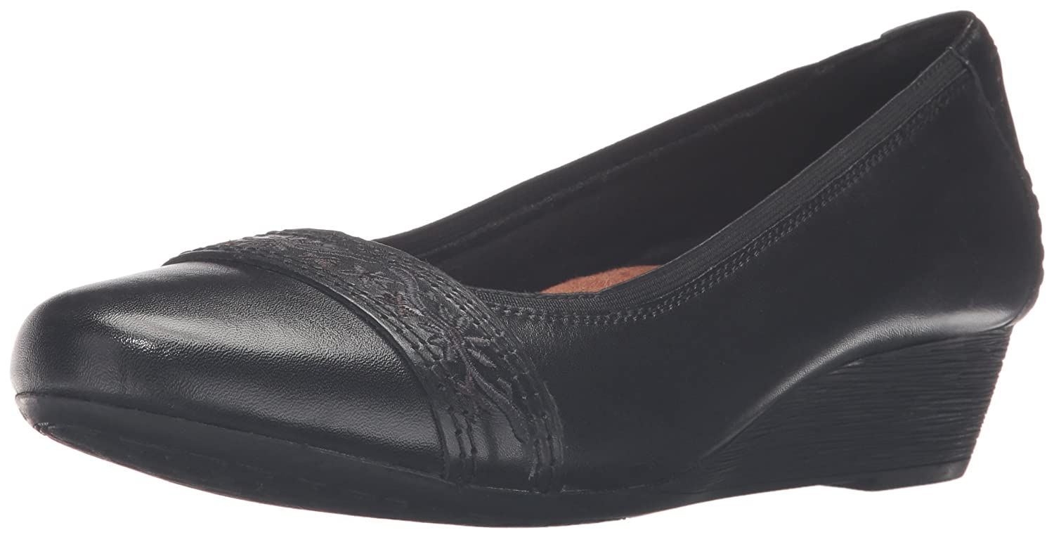 Rockport Women's Cobb Hill Jennifer Wedge Pump B01AK6YK04 7.5 W US|Black