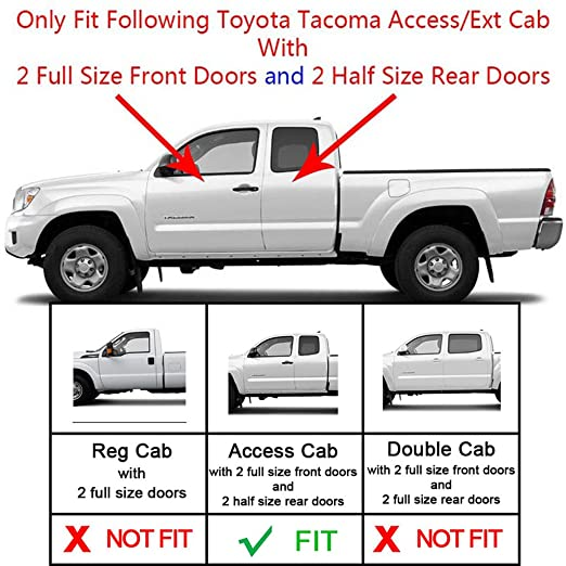 Amazon.com RAFTUDRIVE Running Boards 4 in Oval Bent Carbon Steel Fit 05-18 Toyota Tacoma Access/Extended Cab (With 2 full size front doors and 2 half size ...  sc 1 st  Amazon.com & Amazon.com: RAFTUDRIVE Running Boards: 4 in Oval Bent Carbon Steel ...