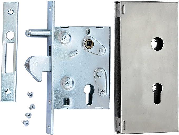 Cerrojo de gancho con caja de cerradura F-60 para puerta corredera ...