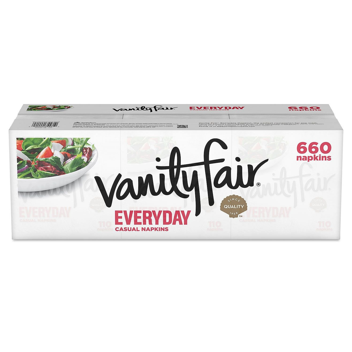 Vanity Fair Everyday Napkins, White Paper Napkins, 660 Count by Vanity Fair (Image #1)
