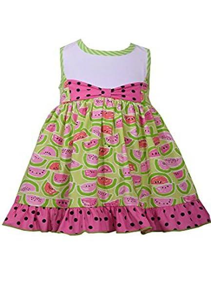 040b23c80a1d Amazon.com  Bonnie Jean Little Girls 2T-4T Watermelon Printed Kids ...