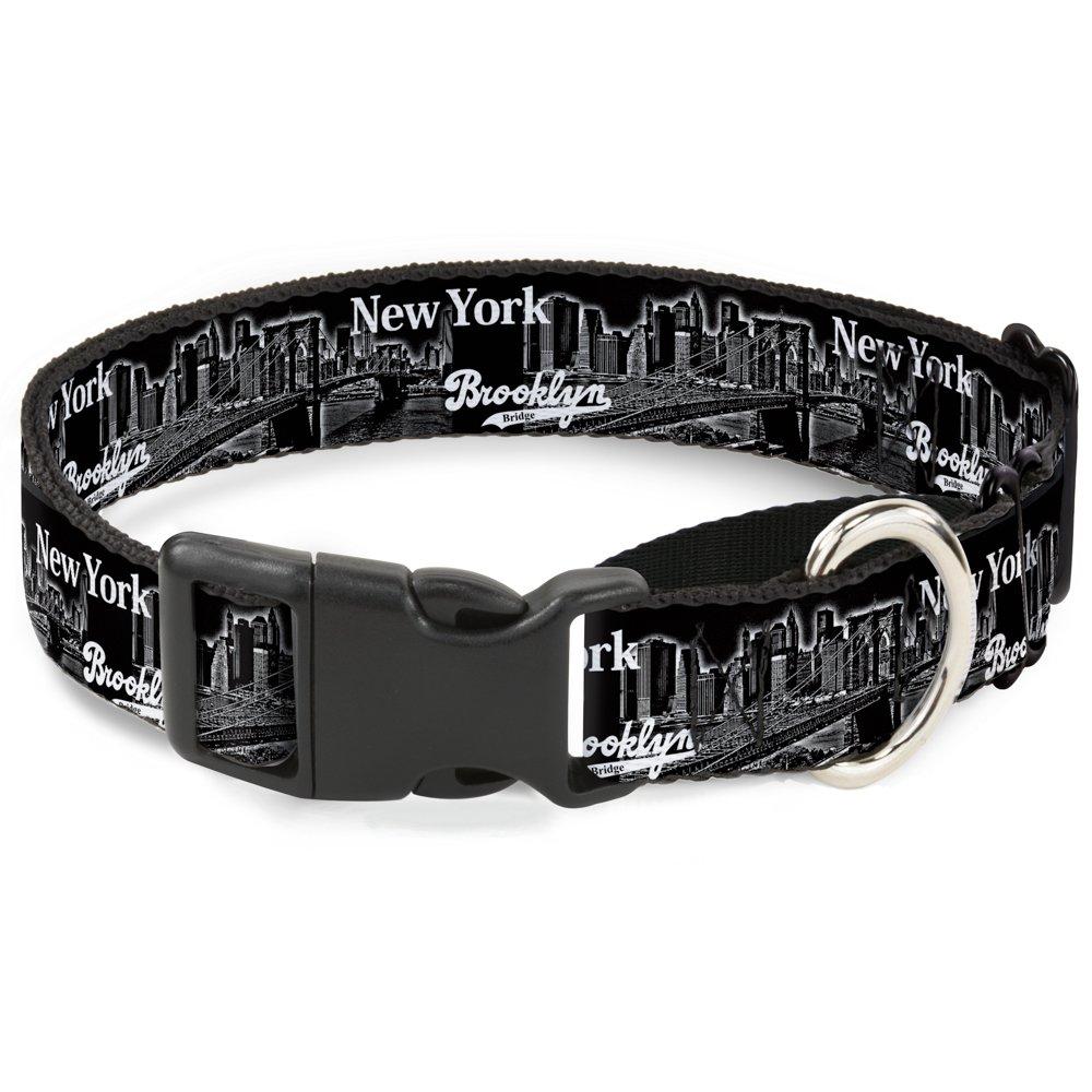 Buckle-Down Brooklyn New York Martingale Dog Collar, 1  Wide-Fits 11-17  Neck-Medium