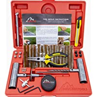 Boulder Tools - Heavy Duty Tire Repair Kit for Car, Truck, RV, Jeep, ATV, Motorcycle, Tractor, Trailer. Flat Tire Puncture Repair Kit